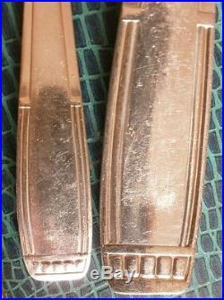 Ménagère Art déco métal argenté 37 pièces Louche Cuillères à café Couverts