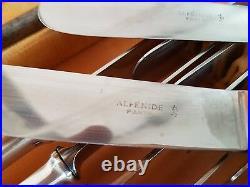 Ménagère Ct Alfenide Art Déco 28 Pièces Tres Rare Métal Argenté Flatware Set