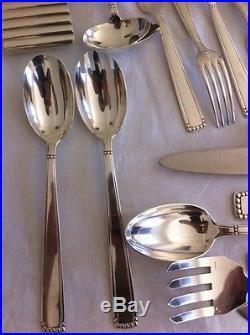 Ménagère De Couverts Métal Argenté Boulenger Art Deco