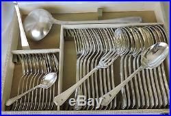 Menagere En Metal Argente Modele America Art Deco Christofle 75 Pieces