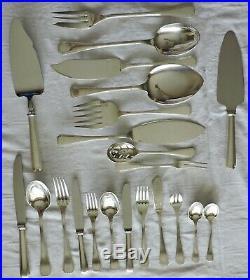 Menagere En Metal Argente Modele Art Deco America Christofle 147 Pieces
