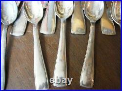 Ménagère Ercuis 37 Pièces Style Art Déco en Argent Plaqué Silver Silber