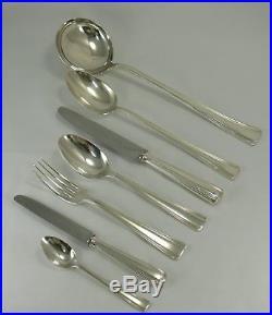 Ménagère Ercuis 60 pièces, métal argenté, Art Déco, très très bon état
