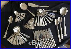 Menagere Metal Argente De 64 Pieces Art Deco