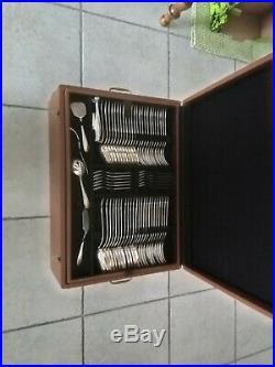Ménagère Orbrille en métal argenté de 165 pièces année 70