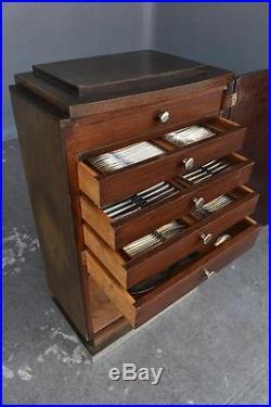Ménagère art déco 148 pièces métal argenté Ercuis dans son meuble