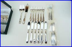 Ménagère art déco 61 pièces en métal argenté SFAM ref 616
