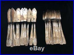 Ménagère art deco vintage 161 pieces metal argente