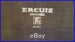 Menagere couverts en metal argente ERCUIS Ancien Orfèvrerie de luxe 67 Pieces
