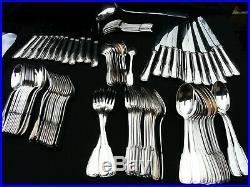 Ménagére de 97 piéces en métal argenté orfevre Saglier Frères FS