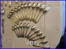 Ménagère métal argenté 100gr 85 pièces belle qualité art déco belle brillance