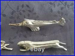 Metal Argente 12 Porte Couteaux Animalier Art Deco Dans Le Gout De Gallia