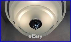 Moderniste Chandelier Lustre Lampe Chrome style Lacroix Petitot Bauhaus Art Déco