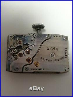 Montre Cyma thank mécanique 1930 art et deco