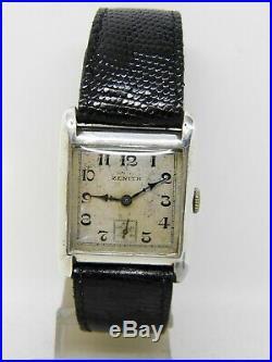 Montre ZENITH ART DECO boite argent vintage ZENITH DE 1930