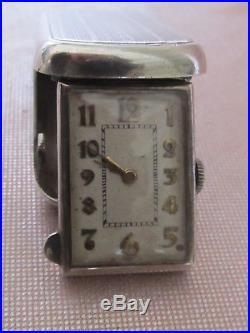 Montre bijou pendentif ancienne Suisse en argent mécanique fonctionne Art Déco