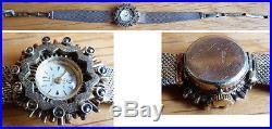Montre bracelet femme argent massif BIMESA Suisse silver watch