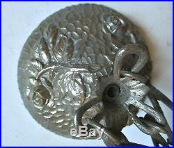 Monture lustre ART DÉCO bronze nickelé pour vasque Daum Muller Degué