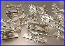 Orbrille Coffret 12 Porte Couteaux Figuratifs Animaliers Art Deco Metal Argente