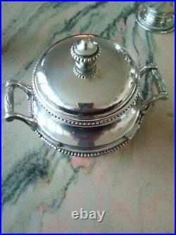 Orfevrerie GALLIA (Charles Christofle) Service a thé et café en metal argenté