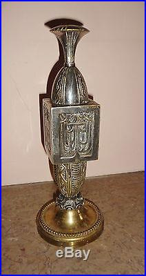 PIED DE LAMPE art déco bronze argenté