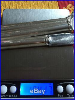 PUIFORCAT JEAN modèle CANNES, 3 pièces en argent massif ART DECO 184GR