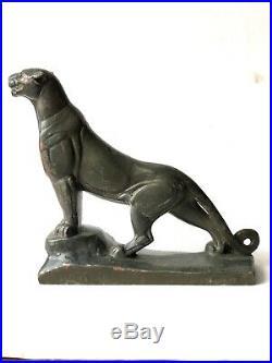 Panthere sculpture animalière Art Déco régule argenté signé FRECOURT Maurice XXe