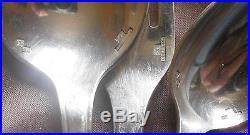 Partie de ménagère métal argenté Alfénide / Christofle modèle art déco TOSCA