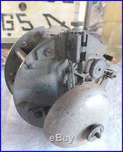 Pendule art déco pendulette bronze argenté femme ourson onyx marbre clock