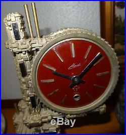 Pendule fabrik sss marke clock Schmid engrenage bauhaus modernisme Germany
