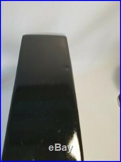 Pendule garniture de cheminée art déco en faience noire et argenté