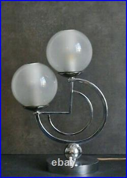 Petite LAMPE veilleuse ART DECO MODERNISTE 1930 Era Adnet Bauhaus