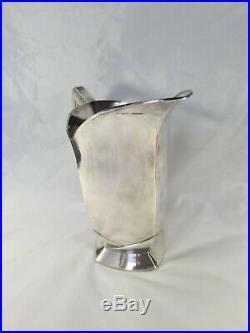 Pichet en métal argenté Par Louis Süe et André Mare pour Gallia 1930 Art deco