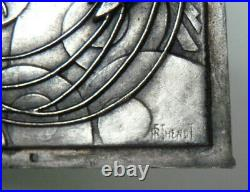 Plaque décorative Arts Déco signé RF. THENOT