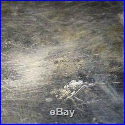Plat Gallia en métal argenté Sue et Mare art déco