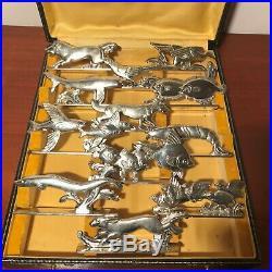 Porte Couteaux Animaliers, art Déco, métal Argenté, xx°
