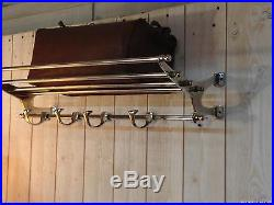 Porte manteau / serviettes en chrome de style Art déco Longueur 72 cm
