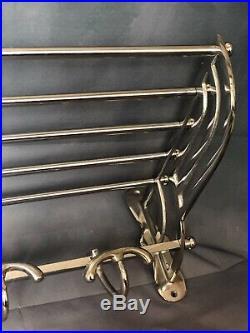 Porte manteaux l'Orient Express style wagon lit art déco en métal chromé