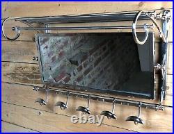Porte manteaux / serviettes Vestibule style Art déco chromé long 79 cm