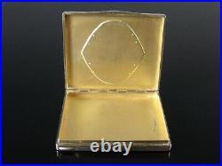 Poudrier ART DECO argent laque noir rouge 1930's