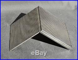 Poudrier Boite En Argent Massif Art Deco Sterling Silver Powder Box