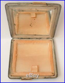 Poudrier boite en argent massif et OR silver powder box Vers 1920 Art Deco