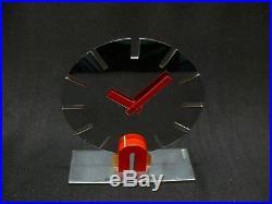 REVEIL ATO ART DECO LEON HATOT- MODERNIST ALARM CLOCK CHROME ca 1930