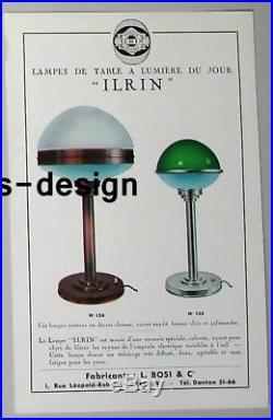 Rare Ancienne Lampe Jlrin ART DECO Bauhaus ILRIN Modernist Table Lamp 1920 1930