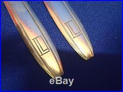 Rare Couvert En Argent Massif Poincon Minerve Jean Puiforcat Art Deco