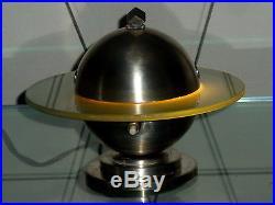 Rare Lampe Veilleuse Saturne Art Deco Moderniste Travail Francais Vers 1930/40