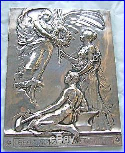 Rare Plaque Argent Art/deco Arthus Bertrand A Voir