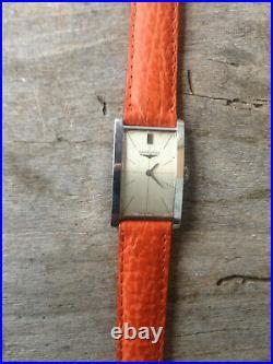 Rare montre Tank LONGINES Art Deco pour homme, 17 rubis mécanique idem T18