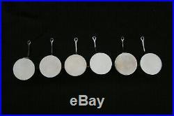 Rare suite de 6 Casseroles Miniatures Argent massif Minerve Diam 5,4cm Pds 266g