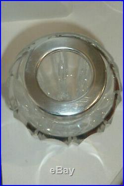 Rare superbe shaker christofle 3 en métal argenté et cristal art déco